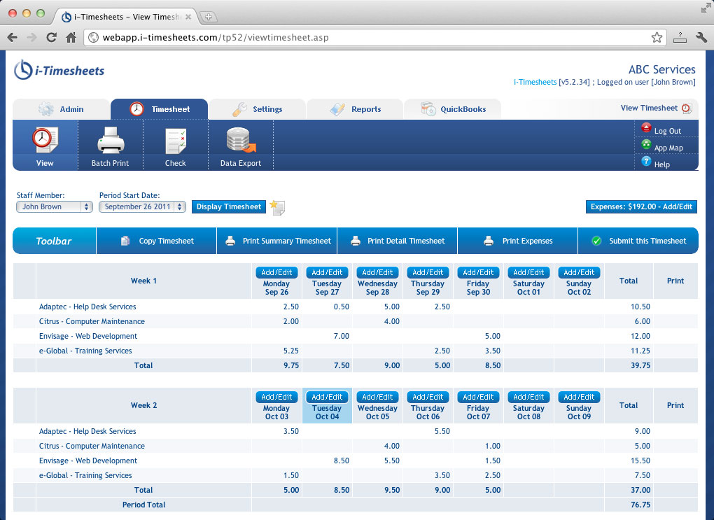 iTimesheets Hosted Timesheet Time tracking and Web Timesheets – Timesheet Design